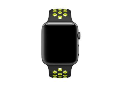 Bracelet sport silicone noir pour Apple Watch version 42mm