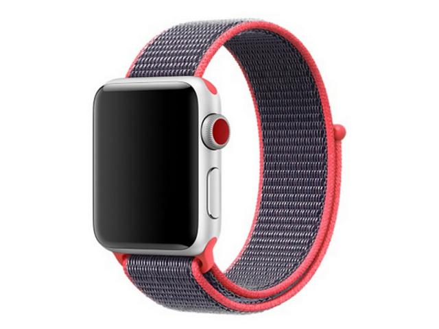Bracelet en nylon bleu/rouge pour Apple Watch 38mm