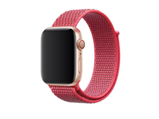 Bracelet en nylon rose pour Apple Watch 44mm