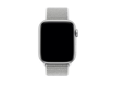 Bracelet en nylon blanc pour Apple Watch 44mm