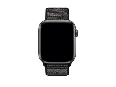 Bracelet en nylon noir pour Apple Watch 44mm