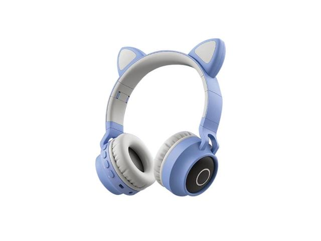 Casque audio Bluetooth Led - Cat Edition - Blue