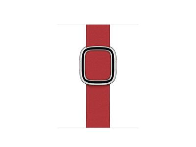 Bracelet en cuir véritable pour Apple Watch 42/44mm - Rouge