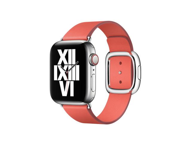 Bracelet en cuir véritable pour Apple Watch 42/44mm - Rose