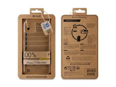 Muvit Change - MUVIT FOR CHANGE RECYCLETEK TRANSPARENT OUVERT APPLE IPHONE 11 PRO MAX