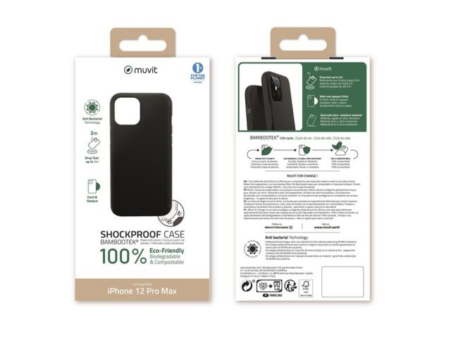 Muvit Change - MUVIT FOR CHANGE BAMBOOTEK RENFORCEE 2M NOIRE: APPLE IPHONE 12 PRO MAX
