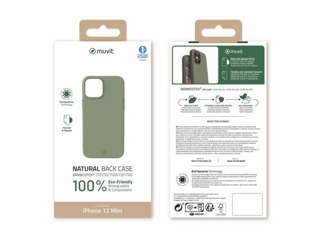 Muvit Change - MUVIT FOR CHANGE COQUE BAMBOOTEK MOSS: APPLE IPHONE 12 MINI